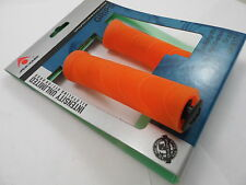 Acor Orange Flangeless Bmx Bike Mtb Cycle Handlebar Bar Grips    - Fits All Bars