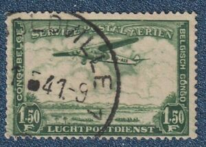 BELGIUM CONGO  1934  1.50Fr Airmail Good Used with  ' LEOPOLDVILLE ' cds(P162)
