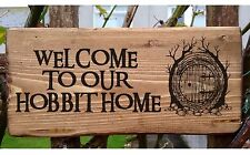 Personalised Hobbit House Lord of the Rings Name Plaque Door Signs Conservatory