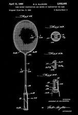 1960 - Badminton Racket - G. A. Allward - Patent Art Poster