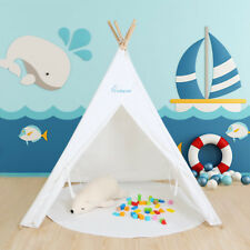 WolfWise Teepee White Indian Baby Play Tent Children Playhouse Kids Game Room
