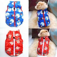 Weihnachten Haustier Hund Mantel Jacke Kleidung Katze Herbst Winter Weste Welpen