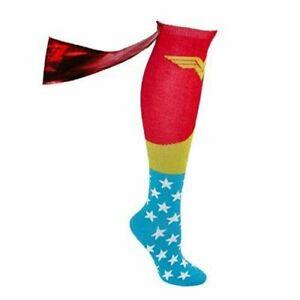 DC Comics Superhero Knee High Cape Sock Wonder Woman One Size New