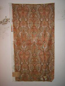Scalamandre, Persian Song, Vintage Paisley Glazed Cotton, Color Orange/Brown