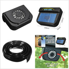 Car Solar Powered Windshield Window Ventilation Air Vent Cooling Fan Radiator X1