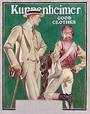 "1923 J.C. Leyendecker, Advertisement, Jockey, Horse racing, 20x16"" Art Print"