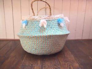 Natural Seagrass Belly Basket