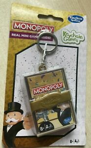 BNIP New Hasbro Gaming Keychain Games - Monopoly - Real Mini Game On the Go!