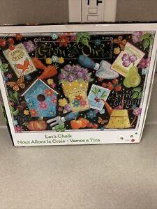 Jigsaw Puzzle Let's Chalk Birdhouse Vegetable Garden Ceaco