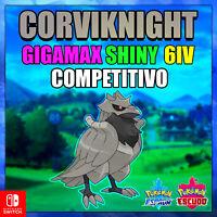 Corviknight Gigamax Shiny 6 IV COMPETITIVO Pokemon Espada Escudo ENTREGA RAPIDA