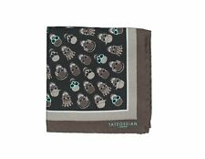 TATEOSSIAN London Printed Silk Pocket Square ~ Made in Italy