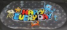 KIDS FUN HAPPY DAYS MAT MULTI COLOURS NEW NON SLIP PVC BATH SHOWER MAT