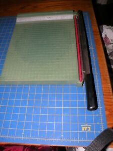 "Vintage Premier Photo Materials Co. Paper/Cardboard Cutter 12"" x 12"" - USA"