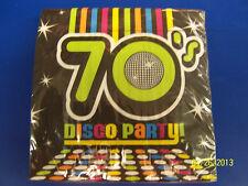70's Decades Disco Dance Dancers Theme Retro Birthday Party Luncheon Napkins