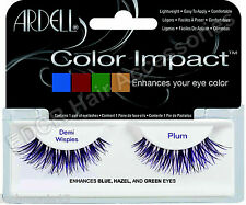 Ardell Color Impact Flase Lashes DEMI WISPIES In PLUM (Enhances your eye color)