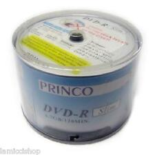 DVD-R 24x Slim White High Quality Princo Brand Printed Blank Media 720pc (1 box)