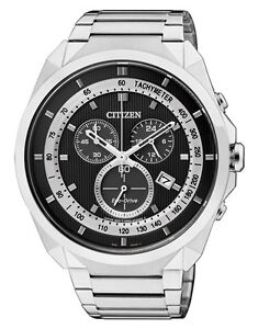 Citizen AT2150-51E Mens Eco-Drive Solar Watch Chronograph WR50m NEW RRP$499.00
