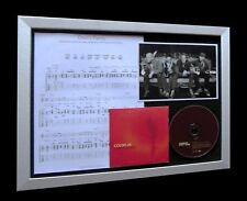 COLDPLAY Panic LIMITED NUMBERED CD MUSIC FRAMED DISPLAY
