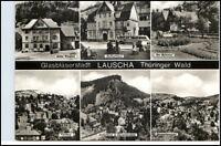 LAUSCHA Thüringen DDR Mehrbild-AK Glasbläser-Stadt ua. Hotel Fridolin uvm.