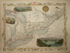 WEST CANADA BY JOHN TALLIS CIRCA 1850