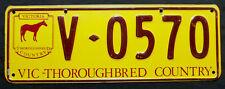 """Nummernschild Australien Victoria """"THOROUGHBRED COUNTRY"""". S-3787."""