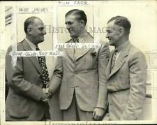 1937 Press Photo Promoter Mike Jacobs, Boxer Tommy Farr, Manager Ted Broadribb