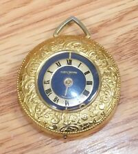 Genuine Customtime Swiss Made Small Gold Tone Pocket Watch Pendant **FOR PARTS**