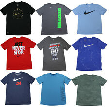 Nike Men's Dri-Fit T-Shirt - Size M L XL XXL - 50+ Cotton Polyester - NEW STOCK