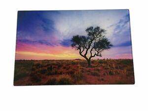Desert Sunset Photograph Print on Acrylic AU Sellers 30cm x 20cm Great Gift Idea