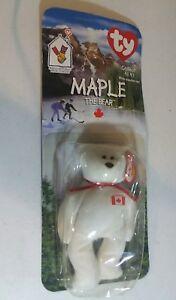 Ty Mcdonald's Maple The Bear Beanie Baby Born July 1st 1996 NEW 1993 ERROR TAG