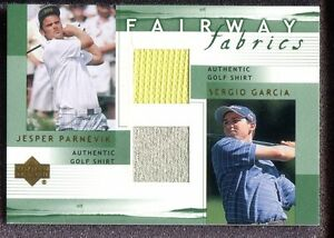 2002 Upper Deck Fairway Fabrics Combo - Jesper Parnevik / Sergio Garcia
