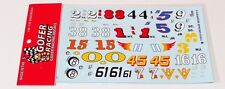 Gofer 11015 Vintage Modified Racers Car Numbers Decal Sheet 1/24 1/25