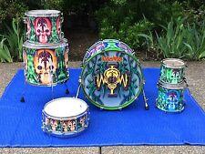 Pearl Masters Queensryche RockenWraps Scott Rockenfield Custom Drum Set