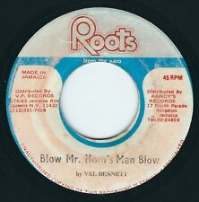 "Val Bennett - Blow Mr. Horns Man Blow / Dub - Roots From Yard - 7"" 45T Reggae ♫"