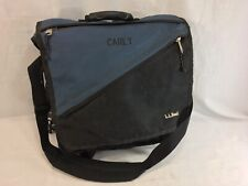 LL Bean Backpack Shoulder Messenger Bag Large Blue Multi-Functional