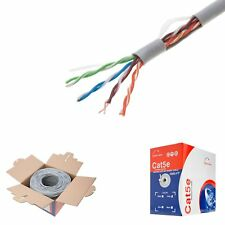 Cat5e 1000ft Cable Gris, sólido 24AWG Cca Cable ethernet a granel