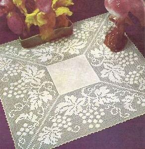Vintage Crochet Filet Doily PATTERN (NOT FINISHED ITEM)