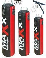 Maxx® Ultimate Boxing Set 3ft, 4ft, 5ft Heavy Filled Punch Bag Gloves Bracket BR