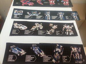 Transformers G1 1985 vintage BOX ART 7x misfire roadbuster etc