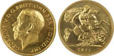 GREAT BRITAIN GEORGE V 1911 GOLD PROOF HALF SOVEREIGN PCGS PR65 STERLINA ORO AU