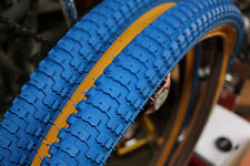 Snakebelly 26 x 2.125 BMX cruiser tire BLUE/GUM WALL (1 pair)