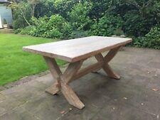 Solid Oak Rustic Farmhouse Table