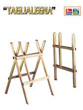 Cavalletto supporto taglia legna in acciaio zincato ottonato chiudibile FACAL