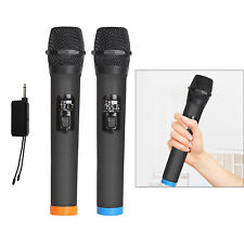 Wireless microphone without bluetooth, VHF wireless dual handheld with receiver,