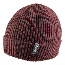 JEEP ~ BEANIE HAT~ RIBBED TRICOT WITH CUFF RANGE ~ POMEGRANATE / BLACK ~ SO WARM