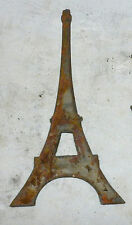 "6"" Eiffel Tower France French Rusty Metal Wall Art Craft Stencil Vintage Sign"