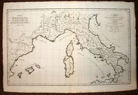 Card Geographic for L'Expedition of Hannibal in Italy, D'Anville 1755