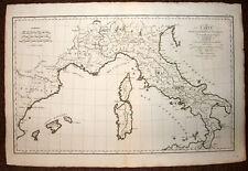 MAPA GEOGRÁFICA PARA EL'EXPEDITION DE ANÍBAL EN ITALIA, DE'D'ANVILLE 1755