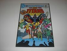 DC COMICS THE NEW TEEN TITANS 1ST ISSUE POSTER PIN UP ROBIN,STARFIRE,KID FLASH