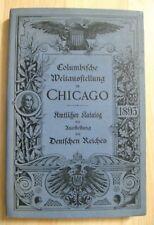 Columbian Exposition Chicago 1893 Catalog - Germany Empire World's Fair German